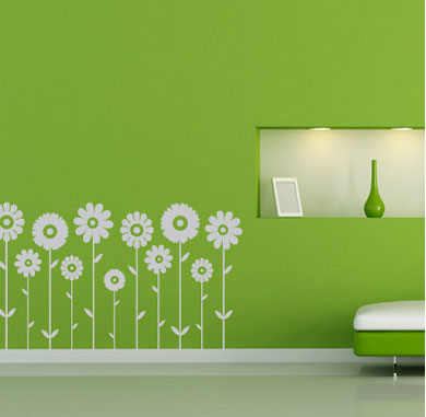 Removable Flower Decals